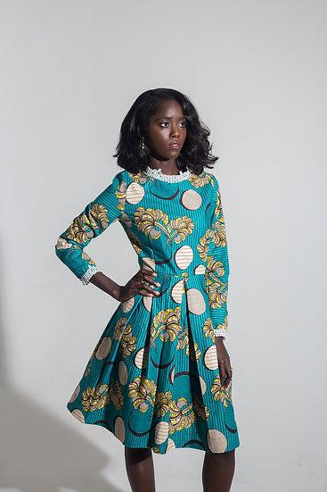 Pleated Ankara Dress