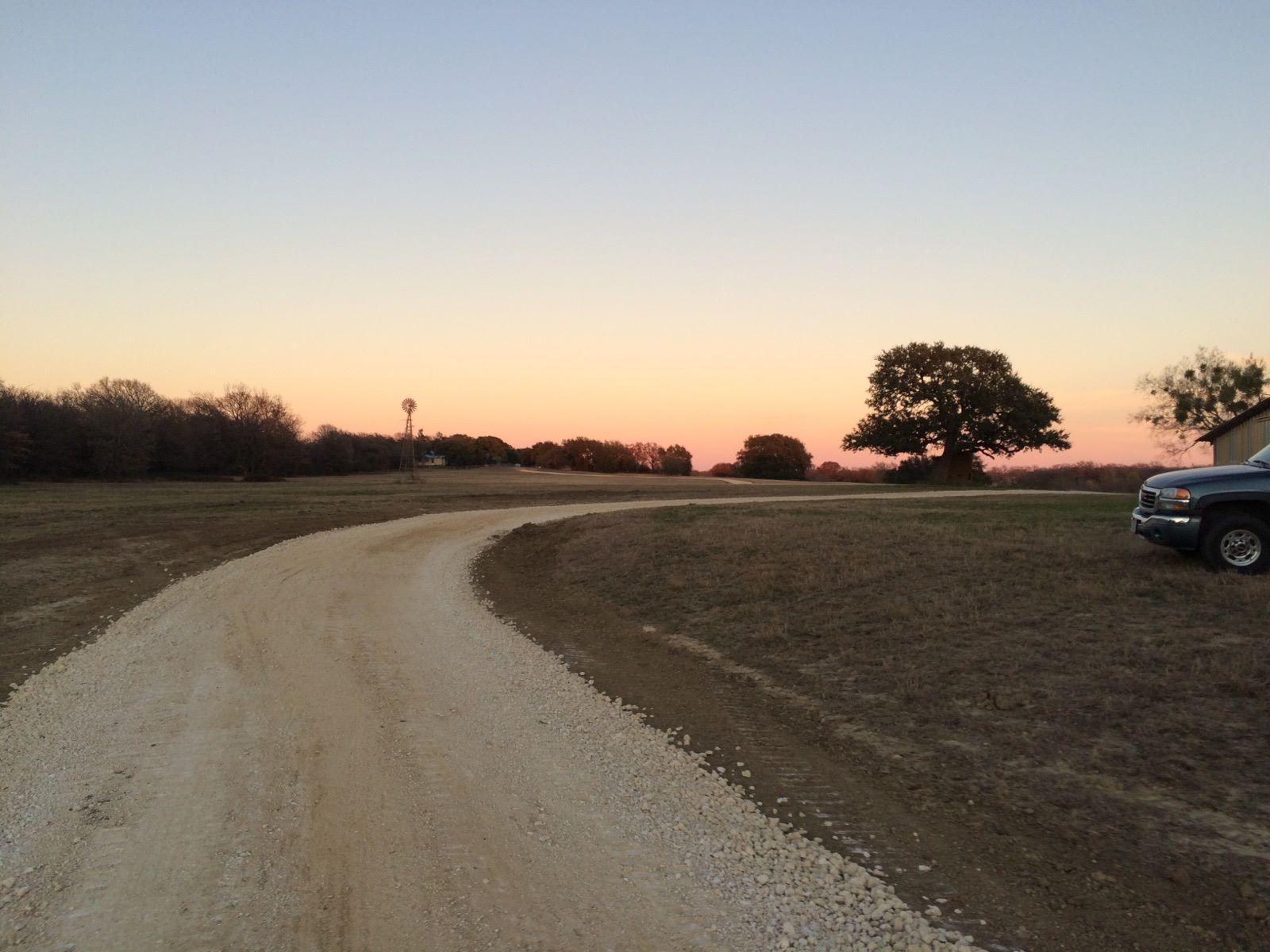 Rework existing rural roadway