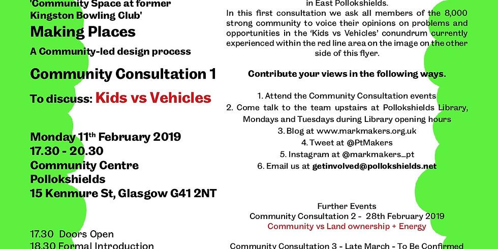 Community Consultation 1 - Kids vs Vehicles