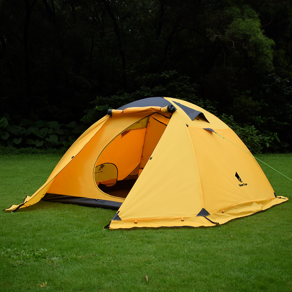 the best attitude 0ae97 1ccf2 GeerTop Toproad 4plus 4Person 4Season Large Family Lightweight Backpacking  Tent