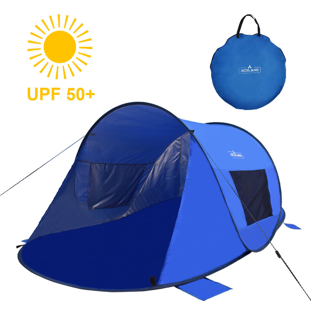 buy popular 8fa14 f7350 Acelane 2 person Beach Pop Up Tent Sun Shade Shelter Canopy with UV  Protection