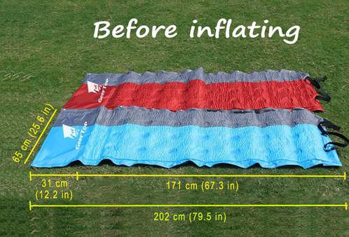 Geertop 2in Extra Thick Lightweight Self Inflating Camp