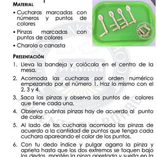 Aparear cucharas con pinzas