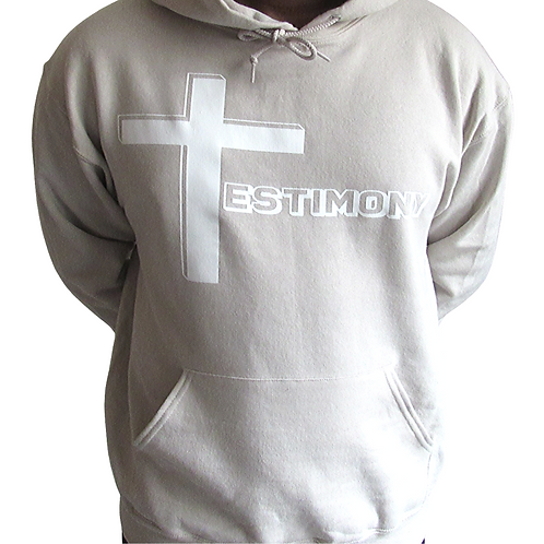 Testimony Hoodie - White Type - Various Colors