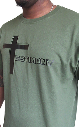 Testimony Tee - Black Type - Various Colors