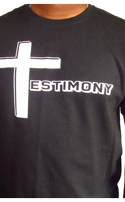Testimony Tee - White Type - Various Colors