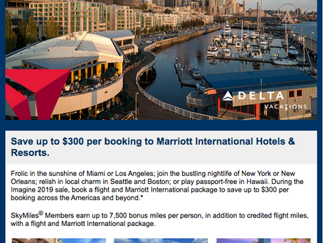 Marketing Email For Marriott Resorts