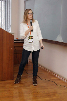 Giving a speech at GDD conference in Lviv, 2017