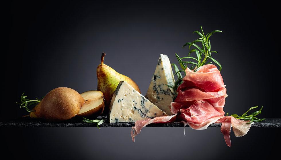 Traditional mediterranean snacks. Prosci