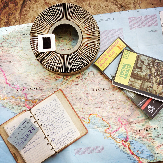 Forget GPS, all we had were slides, maps and a 30-year-old journal