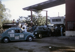 Long gas lines in San Blas, Mexico