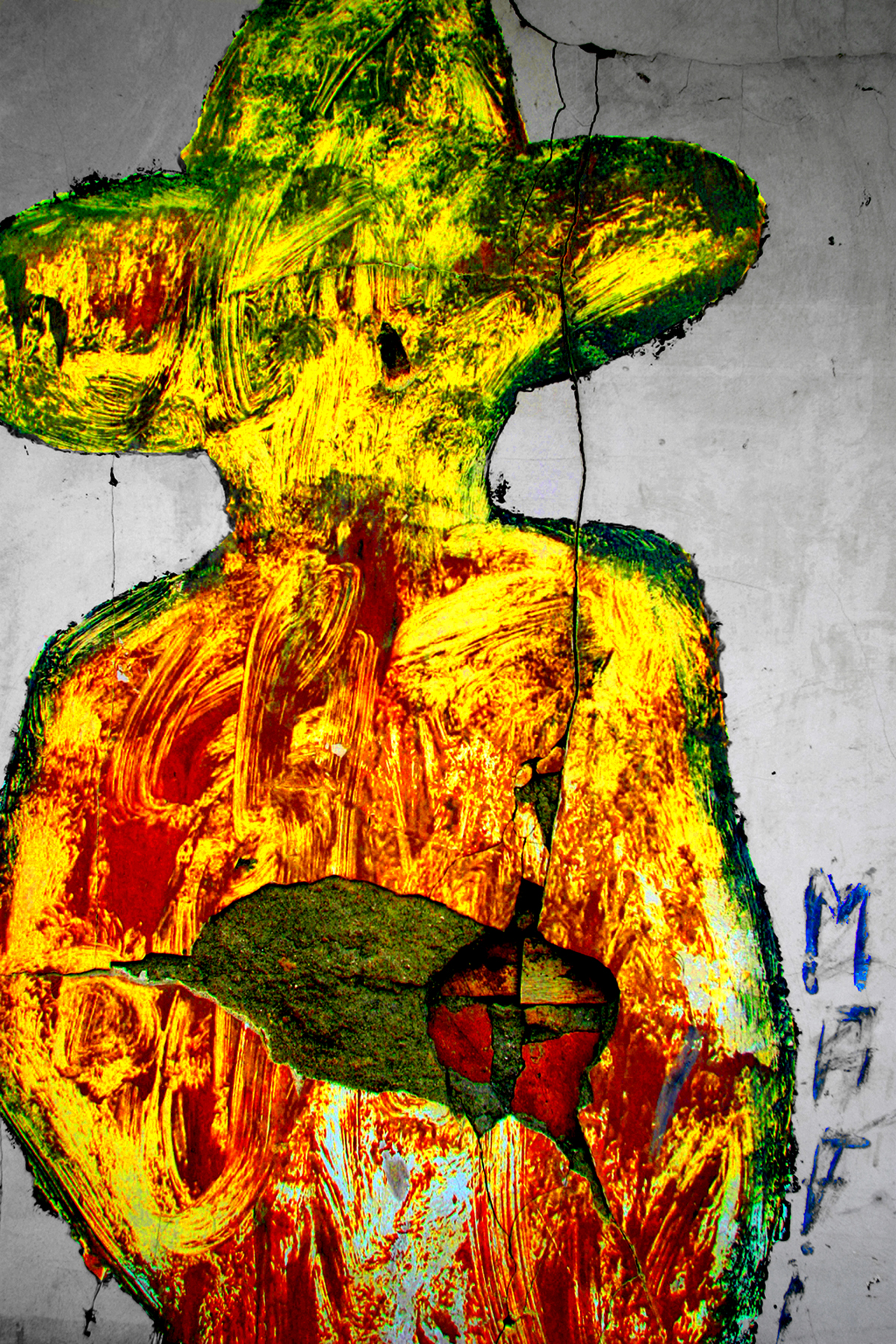 Sandino portrait, Leon, Nicaragua