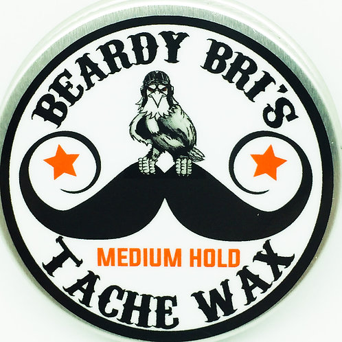 Beardy Bri's medium-hold moustache wax