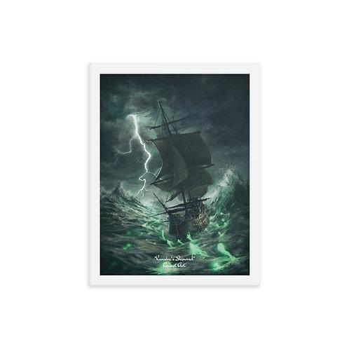 Karadra's Shipwreck - Framed poster