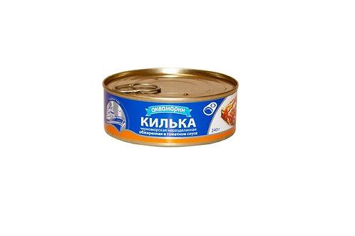 Консервы килька в томатном соусе 240гр (Россия) цена за шт