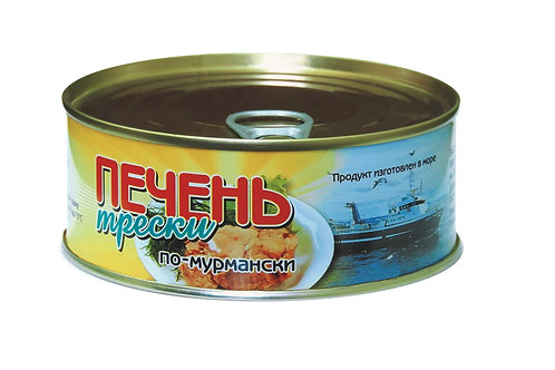 "Печень трески по-мурмански ж/б 230гр ""Сделано в море"" Мурманск (цена за шт"""