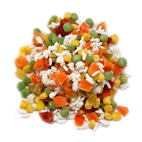 Смесь гавайская замороженная (перец,кукуруза,горошек,морковь,рис) цена за кг
