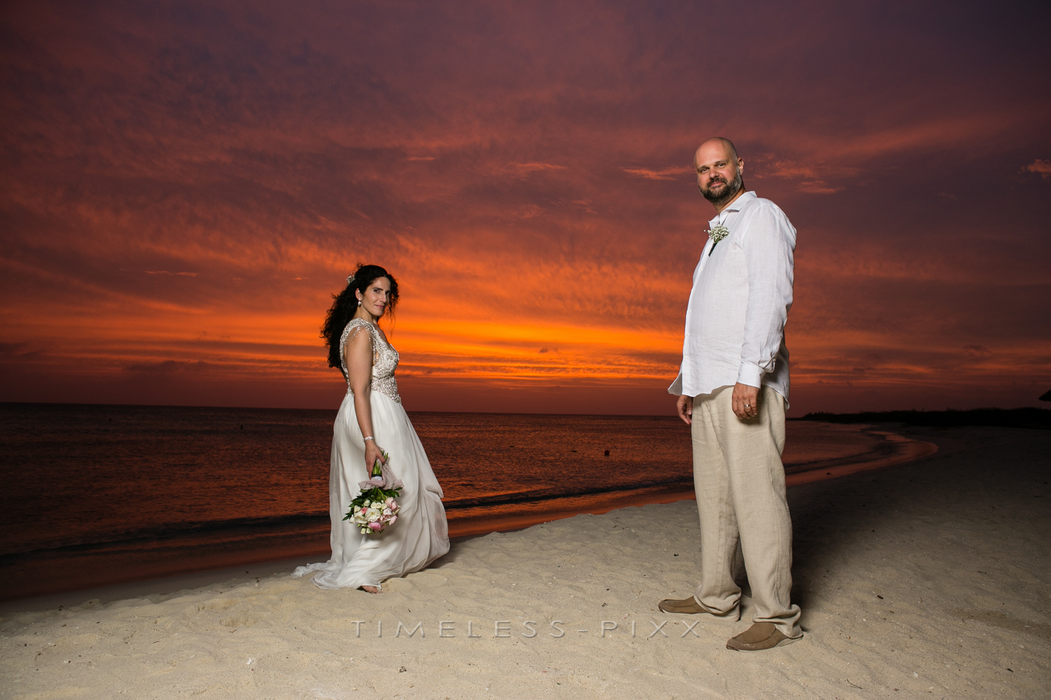 Aruba Sunset Wedding