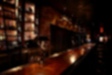 Picture of back bar at Seven Grand with thier extensive library of whiskey and spirits.