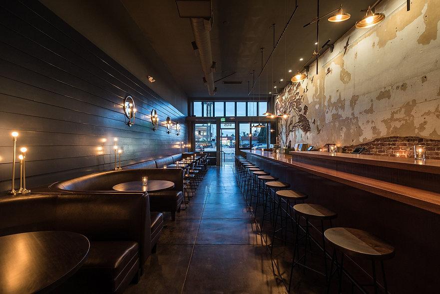 Bar and walls at Tabula Rasa by Ricki Kline