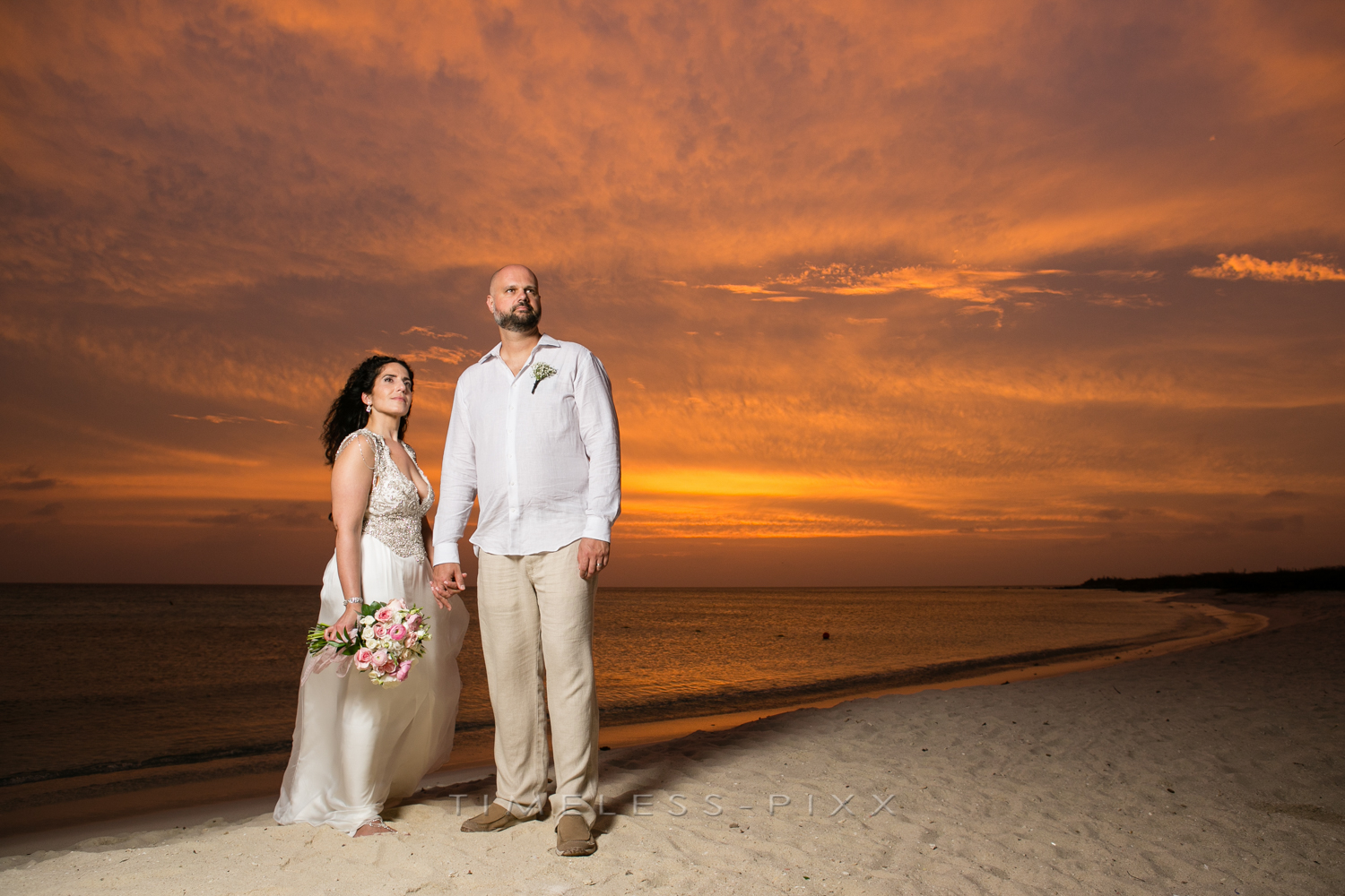 Beach Sunsets Wedding Aruba