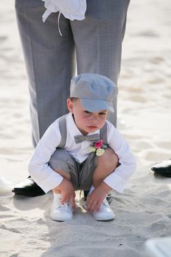 Kid at beach wedding