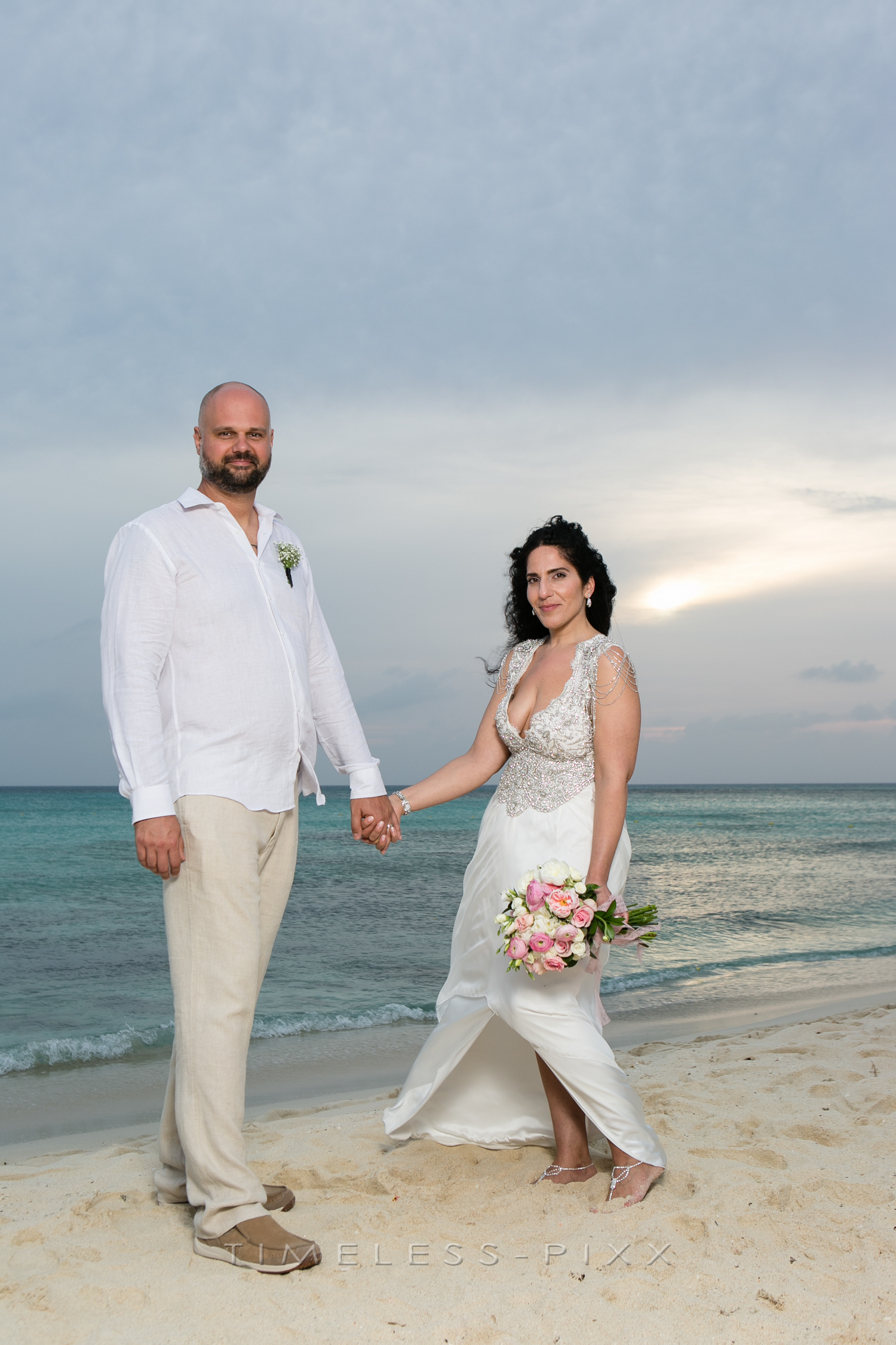 Sunset Aruba Wedding