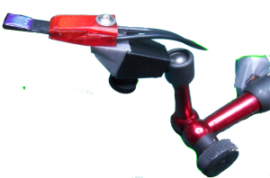 MoJo: zSensor hyper sensitivity (red) switch sensor on articulated arm