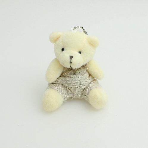 3368 - Urso de Macacão 8cm Chaveiro