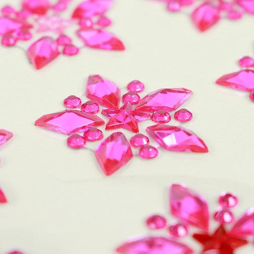 Adesivo de Acrílico - Estrelas Pink