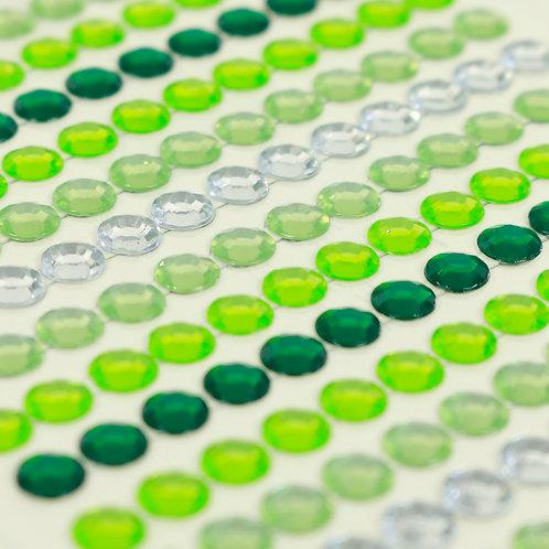 Adesivo de Acrílico - Chatons Verde