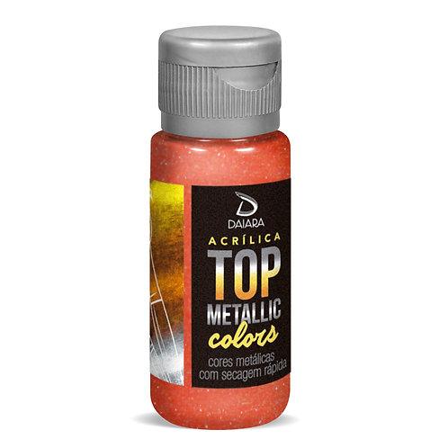 Tinta Acrílica Top Metallic Colors 60ml - 207 Vermelho Claro