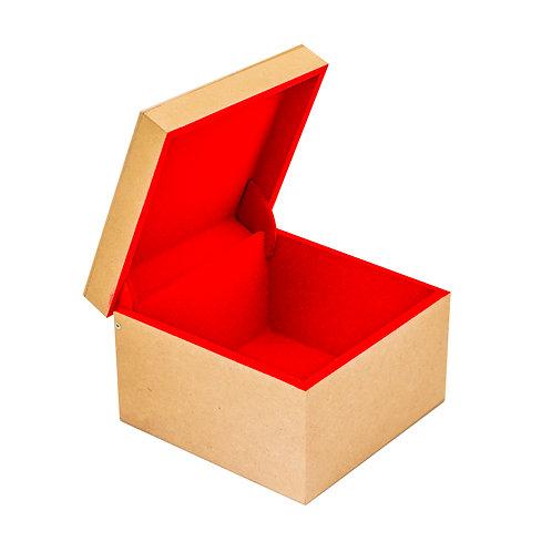 Caixa de MDF Flocada em Vermelho