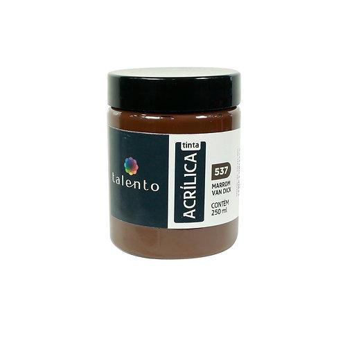 Tinta P/Tela 537 - Marrom Van Dick 250ml