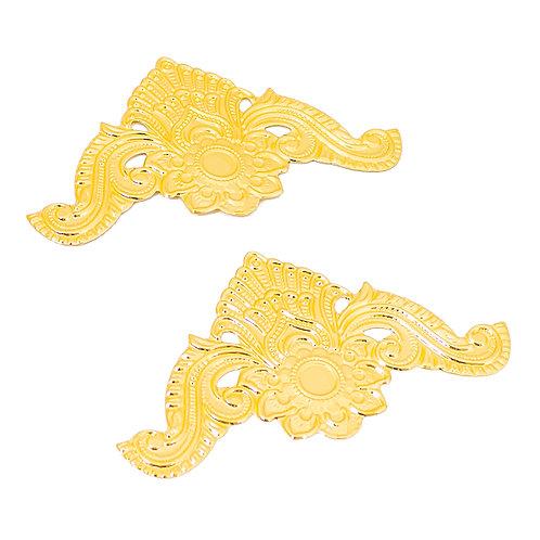 Apliques Dourados em Metal - 2 unidades