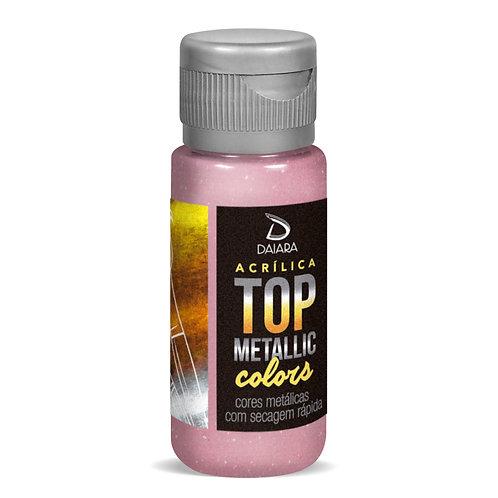 Tinta Acrílica Top Metallic Colors 60ml - 216 Rosa Claro