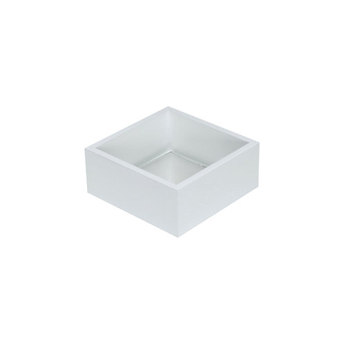 Bandeja MDF Branco c/ espelho 10x10x4 cm.