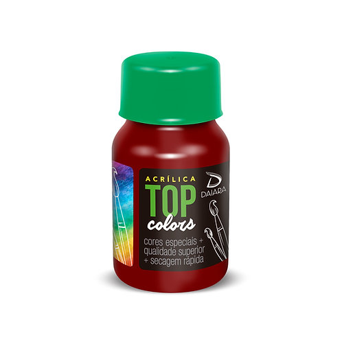 Tinta Acrílica Top Colors 37ml - 34 Vinho