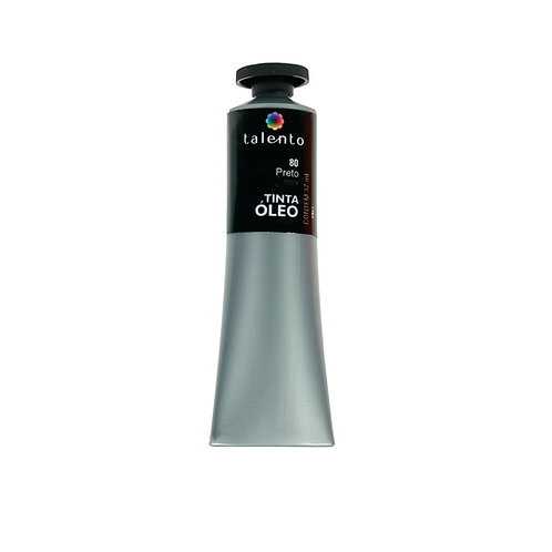Tinta Óleo 37ml - 80 Preto