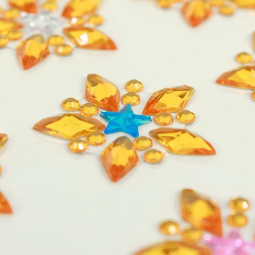 Adesivo de Acrílico - Estrelas Alaranjadas