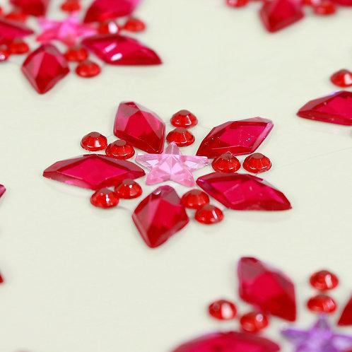 Adesivo de Acrílico - Estrelas Vermelhas
