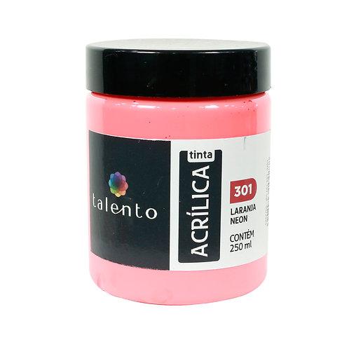 Tinta P/Tela Neon 301 - Laranja 250ml