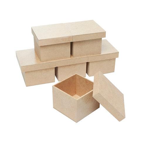 Kit Caixa MDF 8x8x6 cm c/6un