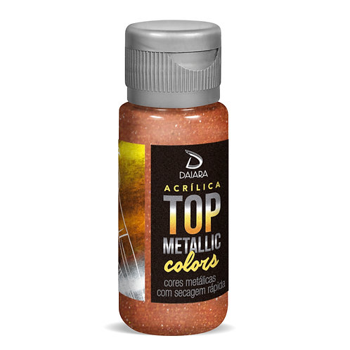 Tinta Acrílica Top Metallic Colors 60ml - 228 Marrom Indiano