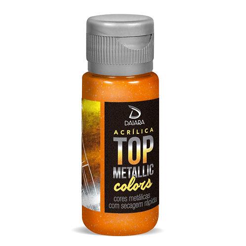 Tinta Acrílica Top Metallic Colors 60ml - 205 Laranja Escuro