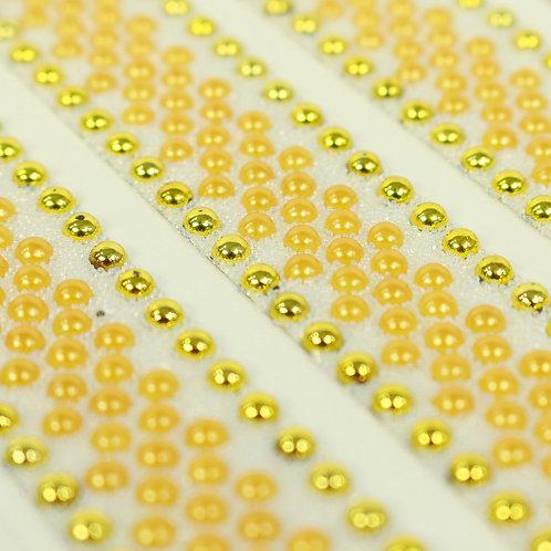 Adesivo de Acrílico - Meia Pérola Amarelo