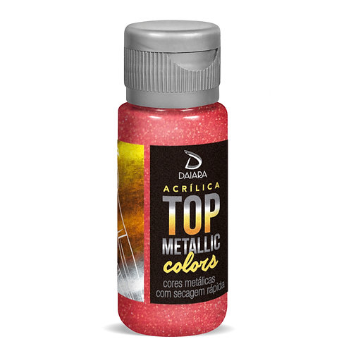 Tinta Acrílica Top Metallic Colors 60ml - 210 Framboesa