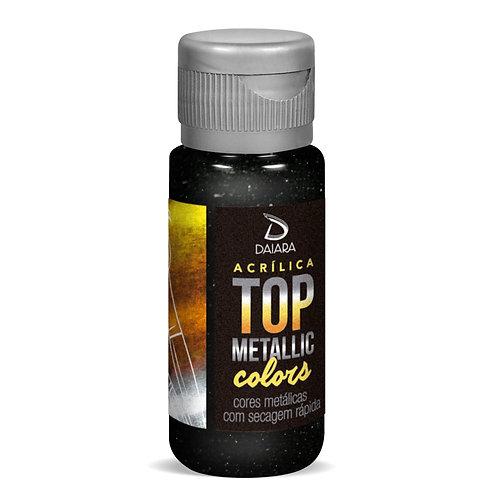 Tinta Acrílica Top Metallic Colors 60ml - 231 Preto