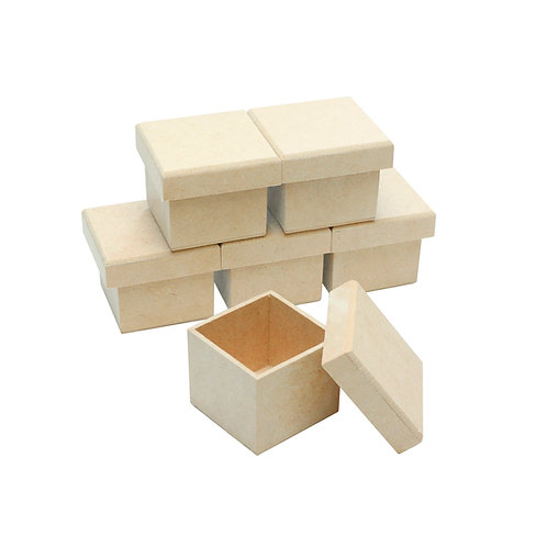 Kit Caixa MDF 6x6x5 cm c/6un