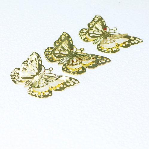6765 - Aplique Metal Dourado 5,0x2,5 cm C/4 UN